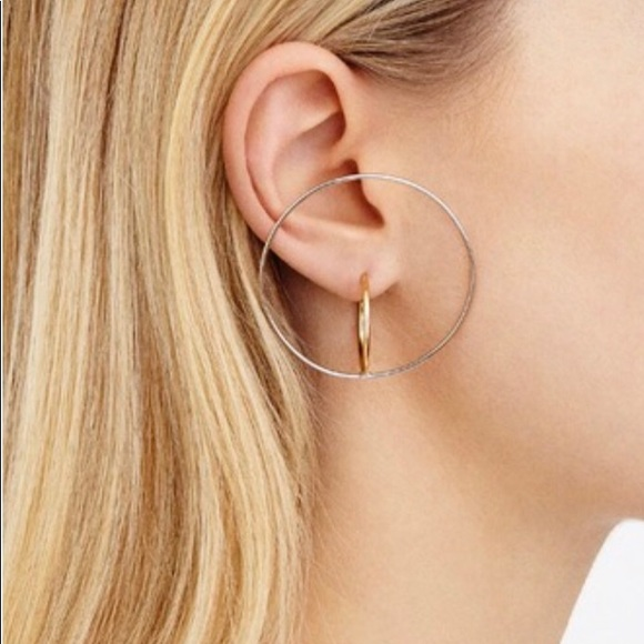 f3c507a0f Charlotte Chesnais Jewelry - Charlotte Chesnais Large Saturn Hoop Earrings